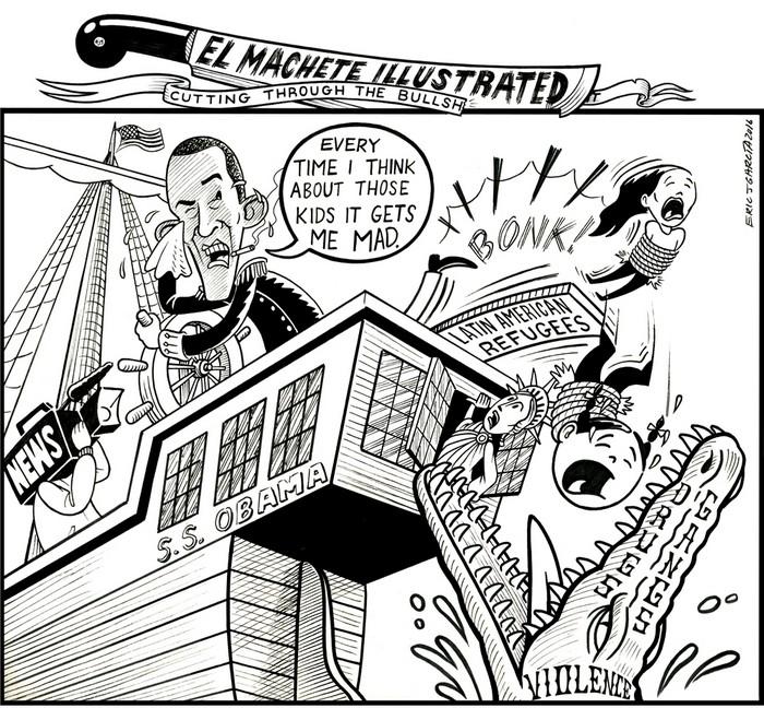 BlackCommentator.com January 14, 2016 - Issue 636: Crocodile Tears - Political Cartoon By Eric Garcia, Chicago IL