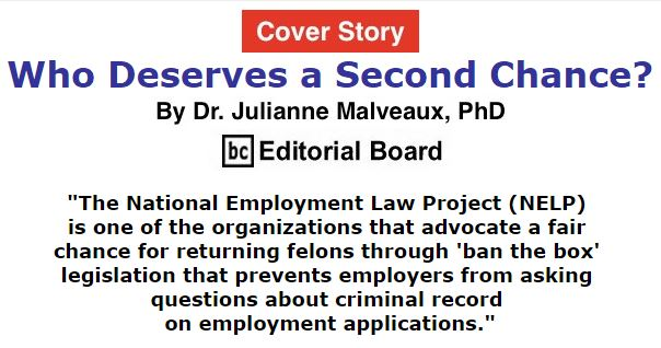 BlackCommentator.com January 14, 2016 - Issue 636 Cover Story: Who Deserves a Second Chance? By Dr. Julianne Malveaux, PhD, BC Editorial Board