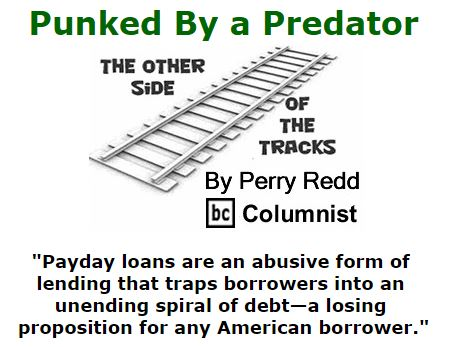 BlackCommentator.com January 21, 2016 - Issue 637: Punked By a Predator - The Other Side of the Tracks By Perry Redd, BC Columnist