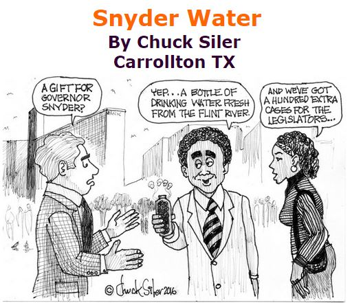 BlackCommentator.com January 28, 2016 - Issue 638: Snyder Water - Political Cartoon By Chuck Siler, Carrollton TX