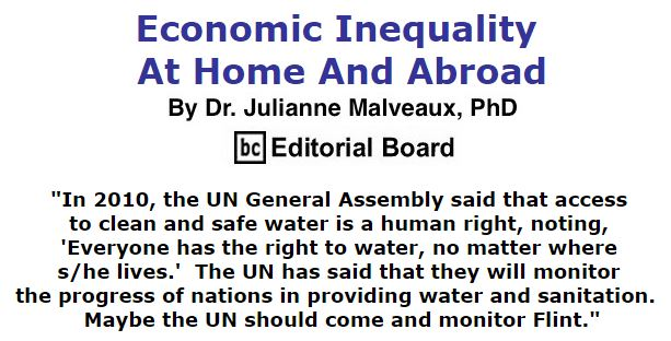 BlackCommentator.com January 28, 2016 - Issue 638: Economic Inequality At Home And Abroad By Dr. Julianne Malveaux, PhD, BC Editorial Board
