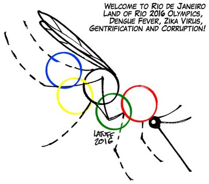 BlackCommentator.com February 11, 2016 - Issue 640: Welcome to Rio de Janeiro - Political Cartoon By Carlos Latuff, Rio de Janeiro Brazil