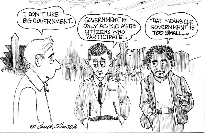 BlackCommentator.com March 10, 2016 - Issue 644: Big Government - Political Cartoon By Chuck Siler, Carrollton TX