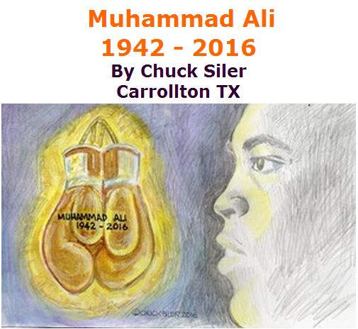 BlackCommentator.com June 09, 2016 - Issue 657: Muhammad Ali 1942 - 2016 - Political Cartoon By Chuck Siler, Carrollton TX