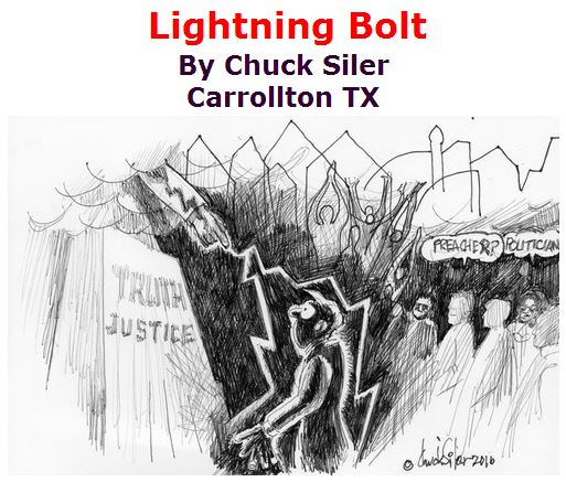BlackCommentator.com June 23, 2016 - Issue 659: Lightning Bolt - Political Cartoon By Chuck Siler, Carrollton TX