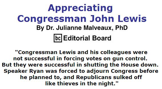 BlackCommentator.com June 30, 2016 - Issue 660: Appreciating Congressman John Lewis By Dr. Julianne Malveaux, PhD, BC Editorial Board