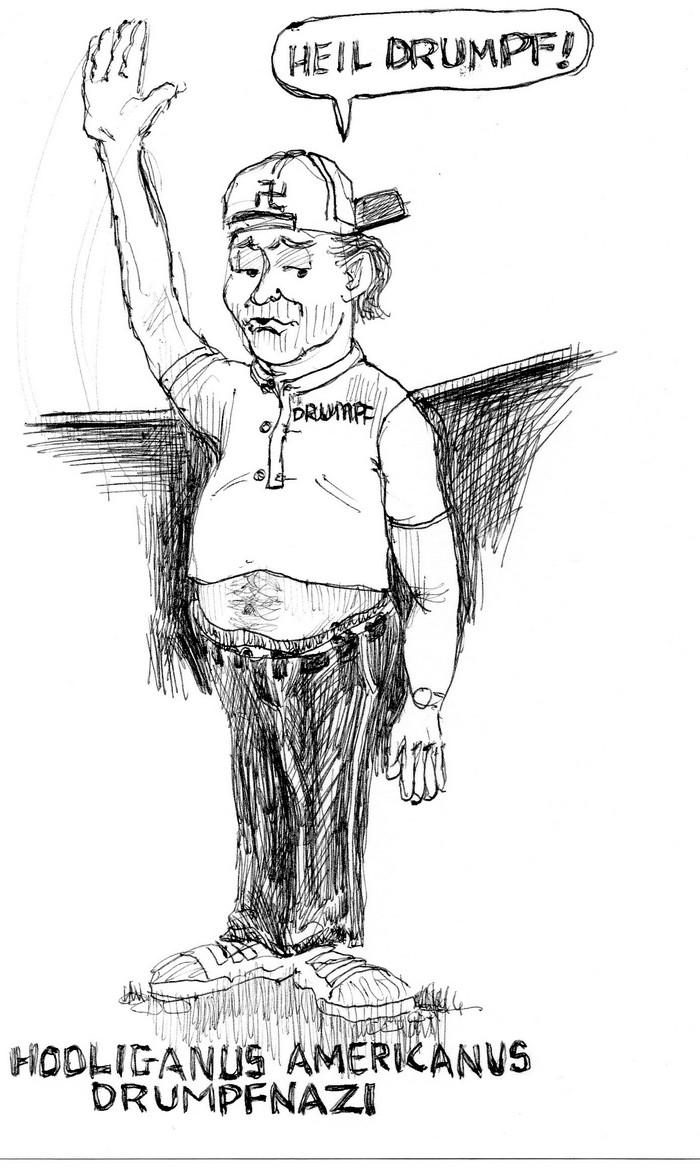 BlackCommentator.com July 14, 2016 - Issue 662: Drumpfnazi - Political Cartoon By Chuck Siler, Carrollton TX