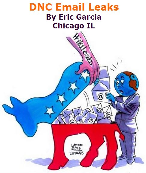 BlackCommentator.com July 28, 2016 - Issue 664: DNC Email Leaks - Political Cartoon By Carlos Latuff, Rio de Janeiro Brazil