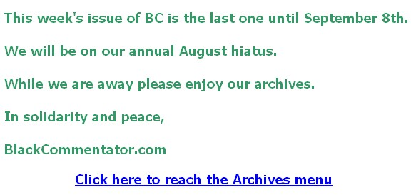 August Hiatus