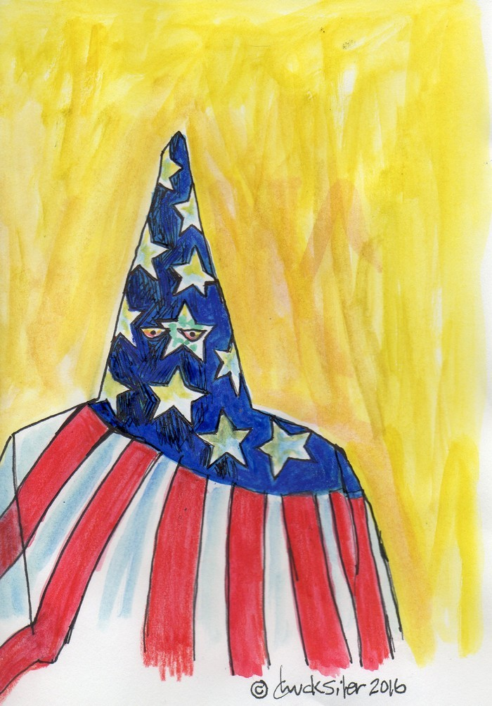 BlackCommentator.com September 08, 2016 - Issue 665: AmeriKKK . . Again - Political Cartoon By Chuck Siler, Carrollton TX
