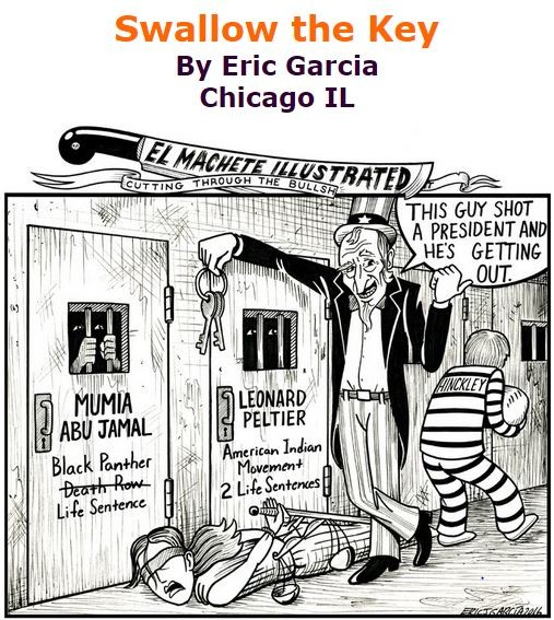 BlackCommentator.com September 08, 2016 - Issue 665: Swallow the Key - Political Cartoon By Eric Garcia, Chicago IL