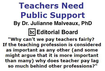 BlackCommentator.com September 08, 2016 - Issue 665: Teachers Need Public Support - By Dr. Julianne Malveaux, PhD, BC Editorial Board