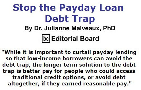 BlackCommentator.com September 22, 2016 - Issue 667: Stop the Payday Loan Debt Trap By Dr. Julianne Malveaux, PhD, BC Editorial Board