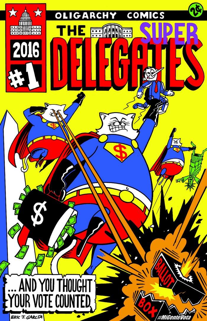 BlackCommentator.com September 29, 2016 - Issue 668: The Super Delegates - Political Cartoon By Eric Garcia, Chicago IL