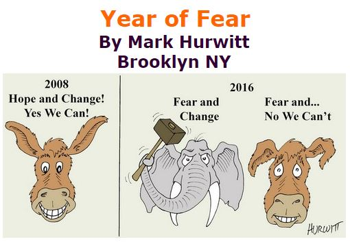 BlackCommentator.com October 13, 2016 - Issue 670: Year of Fear - Political Cartoon By Mark Hurwitt, Brooklyn NY