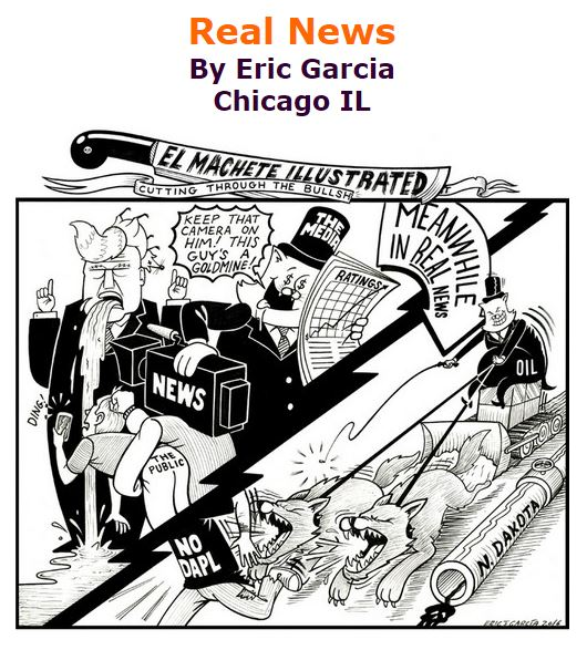 BlackCommentator.com October 20, 2016 - Issue 671: Real News - Political Cartoon By Eric Garcia, Chicago IL