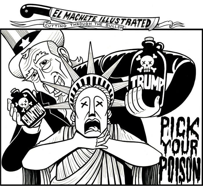 BlackCommentator.com November 03, 2016 - Issue 673: Pick Your Poison - Political Cartoon By Eric Garcia, Chicago IL