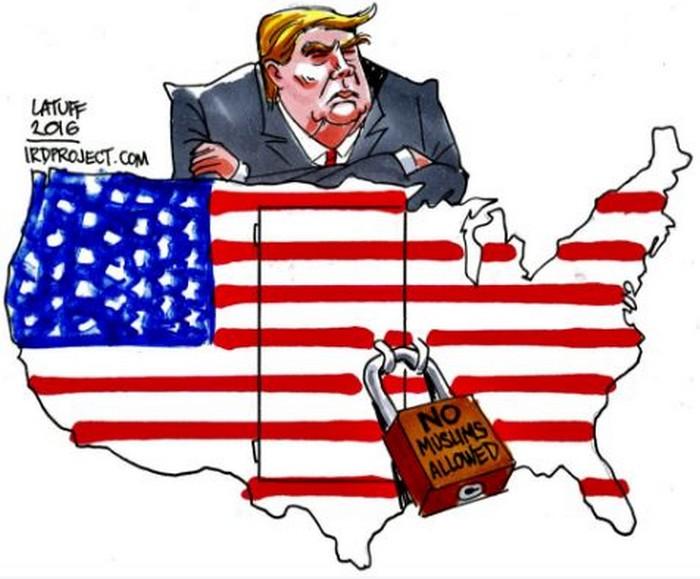 BlackCommentator.com November 11, 2016 - Issue 674: America Elects a Bigot - Political Cartoon By Carlos Latuff, Rio de Janeiro Brazil