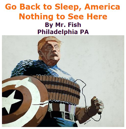 BlackCommentator.com November 17, 2016 - Issue 675: Go Back to Sleep, America – Nothing to See Here - Political Cartoon By Mr. Fish, Philadelphia PA