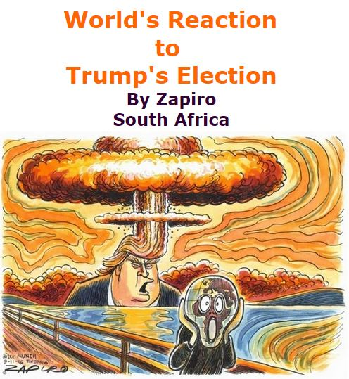 BlackCommentator.com November 17, 2016 - Issue 675: World's Reaction to Trump's Election - Political Cartoon By Zapiro, South Africa