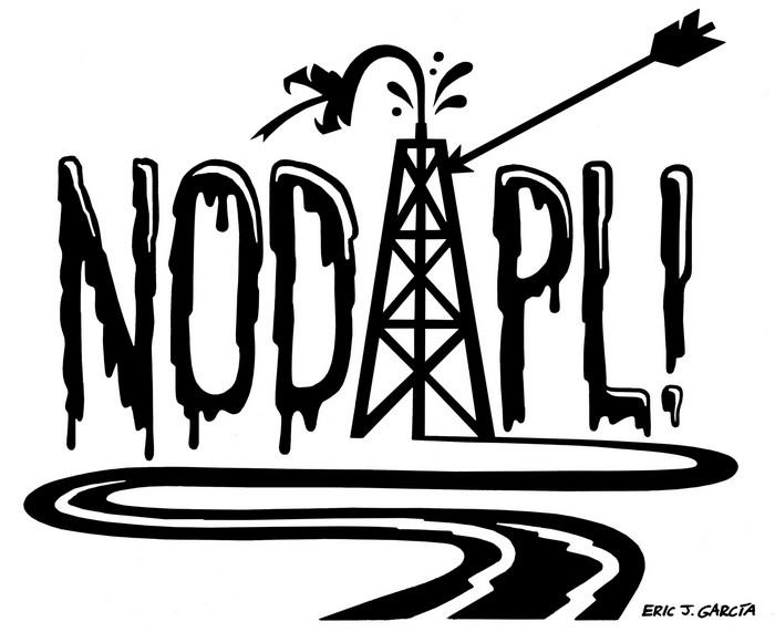 BlackCommentator.com December 08, 2016 - Issue 678: No DAPL - Political Cartoon By Eric Garcia, Chicago IL