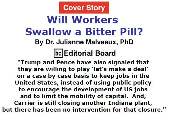 BlackCommentator.com - December 15, 2016 - Issue 679 Cover Story: Will Workers Swallow A Bitter Pill? By Dr. Julianne Malveaux, PhD, BC Editorial Board
