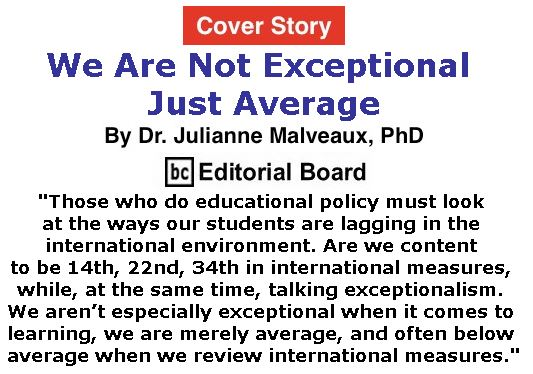 BlackCommentator.com - January 05, 2017 - Issue 680 Cover Story: We Are Not Exceptional – Just Average By Dr. Julianne Malveaux, PhD, BC Editorial Board