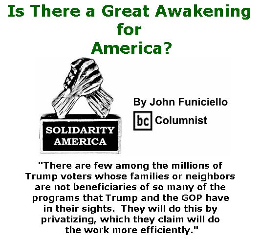 BlackCommentator.com January 05, 2017 - Issue 680: Is There a Great Awakening for America? - Solidarity America By John Funiciello, BC Columnist