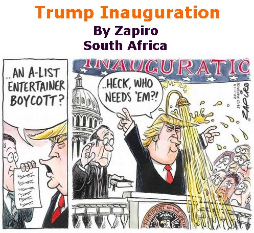 BlackCommentator.com January 26, 2017 - Issue 683: Trump Inauguration - Political Cartoon By Zapiro, South Africa