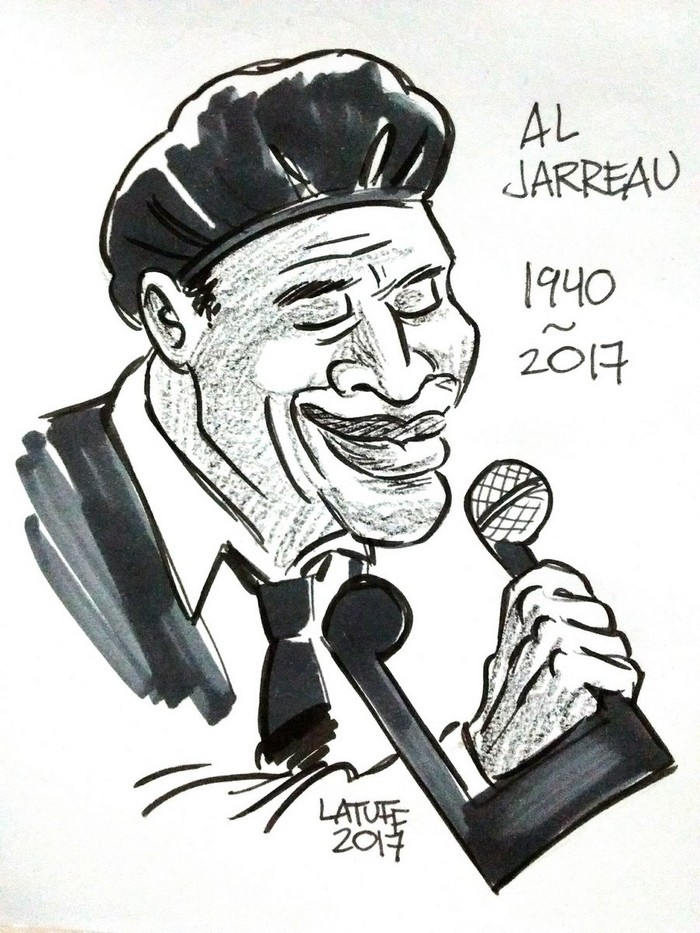 BlackCommentator.com February 16, 2017 - Issue 686: Al Jerreau - Political Cartoon By Carlos Latuff, Rio de Janeiro Brazil