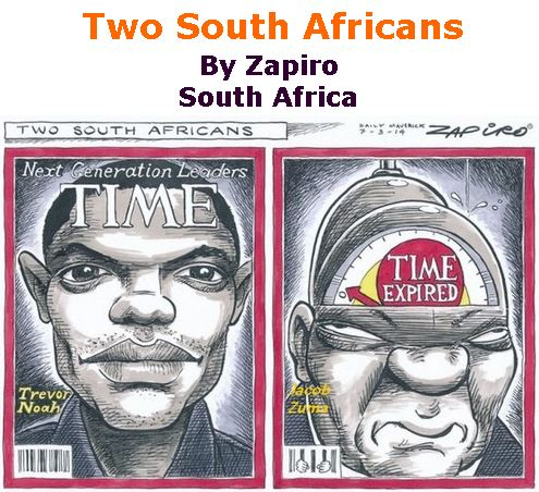 BlackCommentator.com March 16, 2017 - Issue 690: Two South Africans - Political Cartoon By Zapiro, South Africa