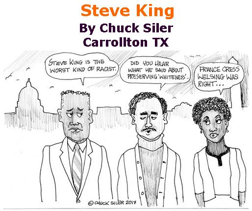 BlackCommentator.com March 23, 2017 - Issue 691: Steve King - Political Cartoon By Chuck Siler, Carrollton TX