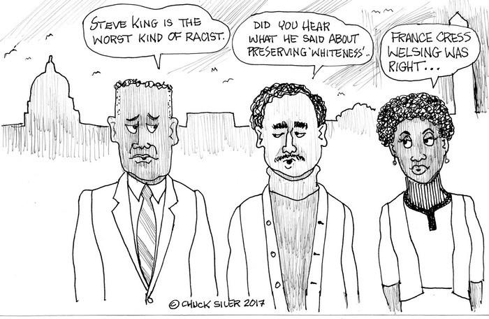 BlackCommentator.com March 23, 2017 - Issue 691: Steve King - Political Cartoon By Chuck Siler, Carrollton TX
