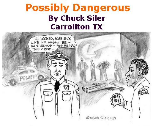 BlackCommentator.com April 13, 2017 - Issue 694: Possibly Dangerous - Political Cartoon By Chuck Siler, Carrollton TX