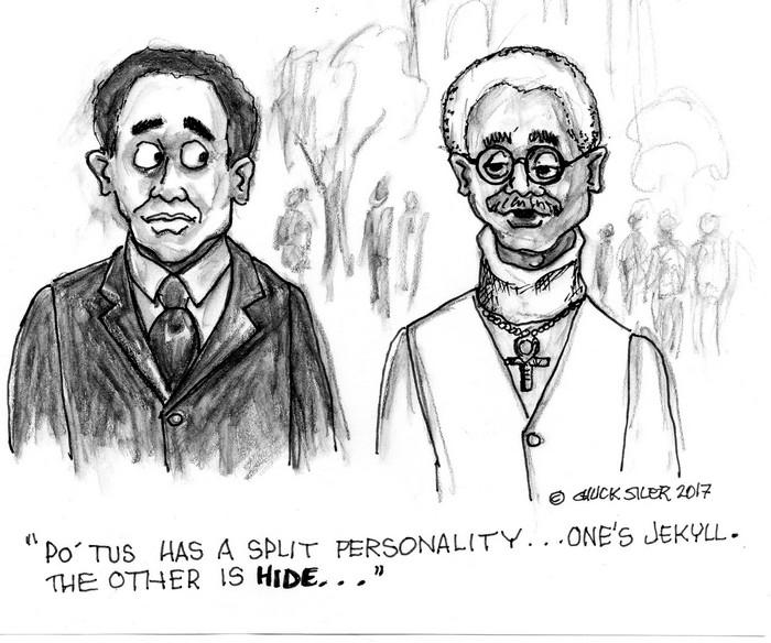 BlackCommentator.com April 27, 2017 - Issue 696: Jekyll & Hide - Political Cartoon By Chuck Siler, Carrollton TX