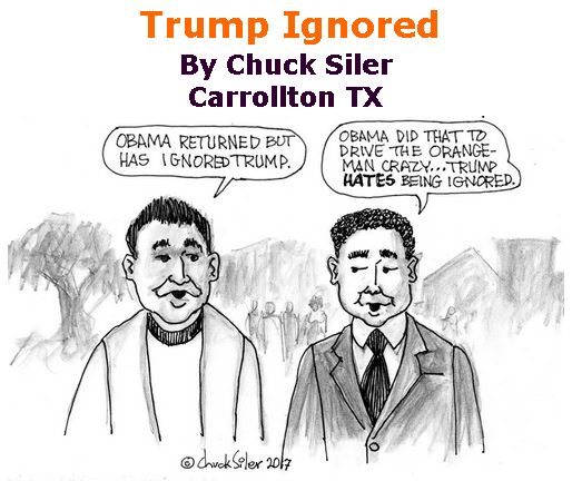 BlackCommentator.com May 04, 2017 - Issue 697: Trump Ignored - Political Cartoon By Chuck Siler, Carrollton TX