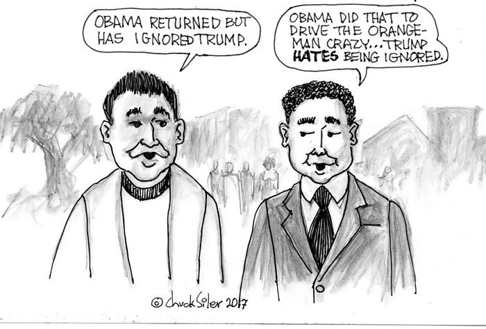 BlackCommentator.com May 04, 2017 - Issue 697: Trump Ignored - Political Cartoon By Chuck Siler, Carrollton TX