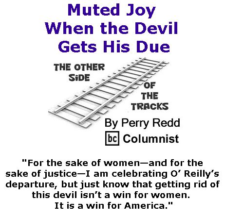 BlackCommentator.com May 11, 2017 - Issue 698: Muted Joy When the Devil Gets His Due - The Other Side of the Tracks By Perry Redd, BC Columnist