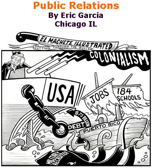 BlackCommentator.com June 22, 2017 - Issue 704: Public Relations - Political Cartoon By Eric Garcia, Chicago IL