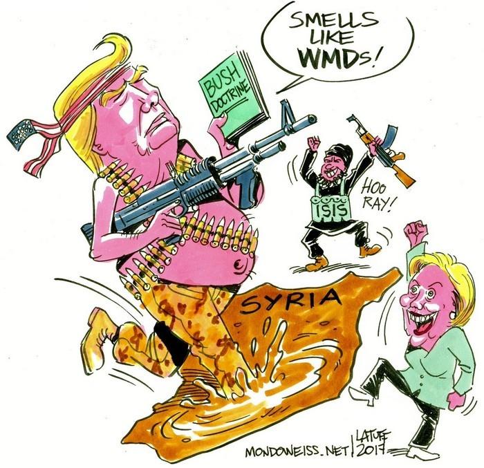 BlackCommentator.com June 29, 2017 - Issue 705: President Trump's Lies - Political Cartoon By Carlos Latuff, Rio de Janeiro Brazil
