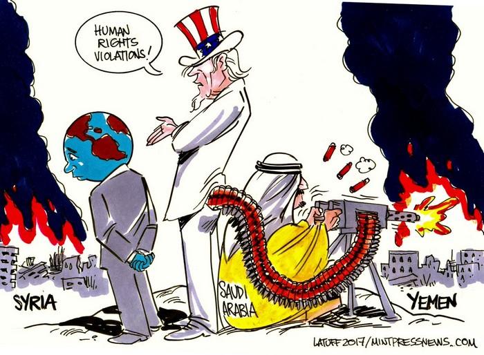 BlackCommentator.com July 06, 2017 - Issue 706: How Modern Imperialism Creates Famine Around the World - Political Cartoon By Carlos Latuff, Rio de Janeiro Brazil