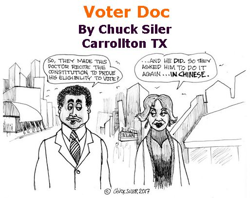 BlackCommentator.com July 06, 2017 - Issue 706: Voter Doc - Political Cartoon By Chuck Siler, Carrollton TX