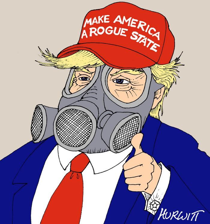 BlackCommentator.com July 13, 2017 - Issue 707: Rogue State - Political Cartoon By Mark Hurwitt, Brooklyn NY