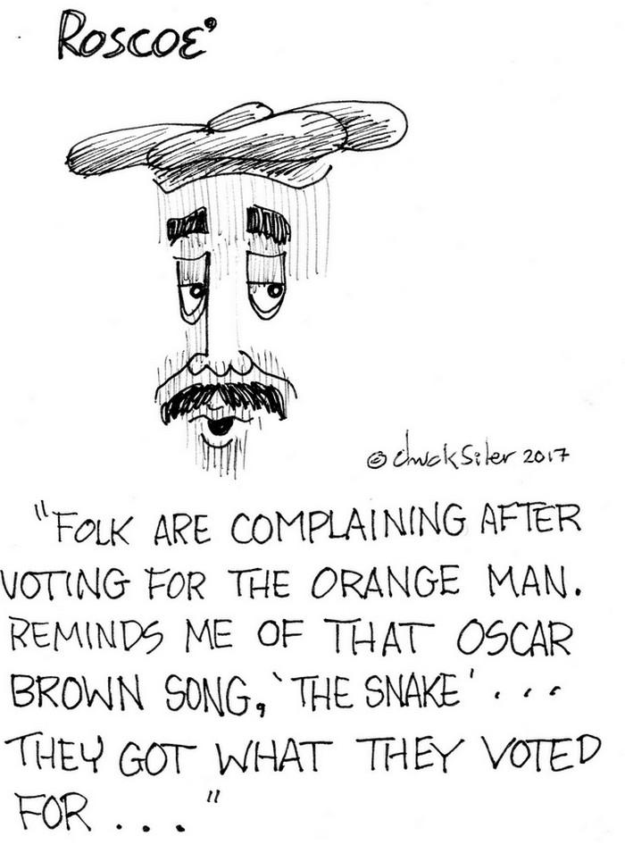 BlackCommentator.com July 20, 2017 - Issue 708: The Snake - Political Cartoon By Chuck Siler, Carrollton TX