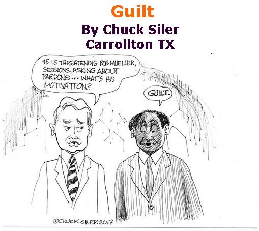 BlackCommentator.com July 27, 2017 - Issue 709: Guilt - Political Cartoon By Chuck Siler, Carrollton TX