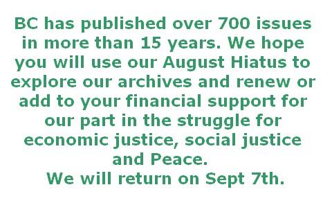 BlackCommentator.com - Issue 710 - August Hiatis