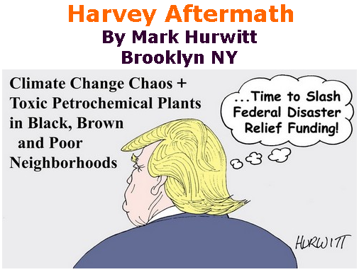 BlackCommentator.com September 07, 2017 - Issue 711:  Harvey Aftermath - Political Cartoon By Mark Hurwitt, Brooklyn NY