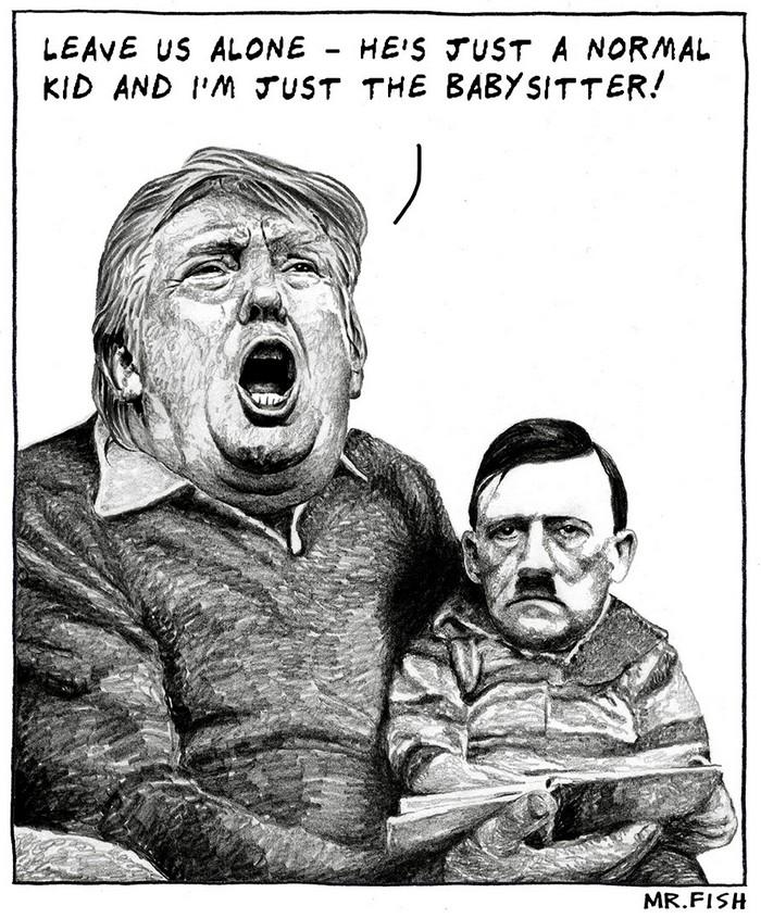 BlackCommentator.com September 07, 2017 - Issue 711: Nanny State - Political Cartoon By Mr. Fish, Philadelphia PA