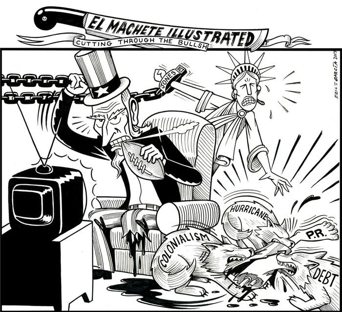 BlackCommentator.com October 05, 2017 - Issue 714: Jones Act - Political Cartoon By Eric Garcia, Chicago IL