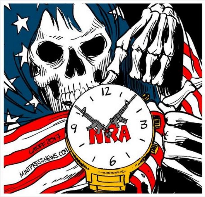 BlackCommentator.com November 16, 2017 - Issue 718: Making America Dead Again! - Political Cartoon By Carlos Latuff, Rio de Janeiro Brazil